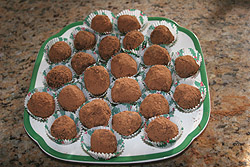 Chocolate Truffles made by a teenager