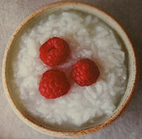 Raspberries on Breakfast Cereal